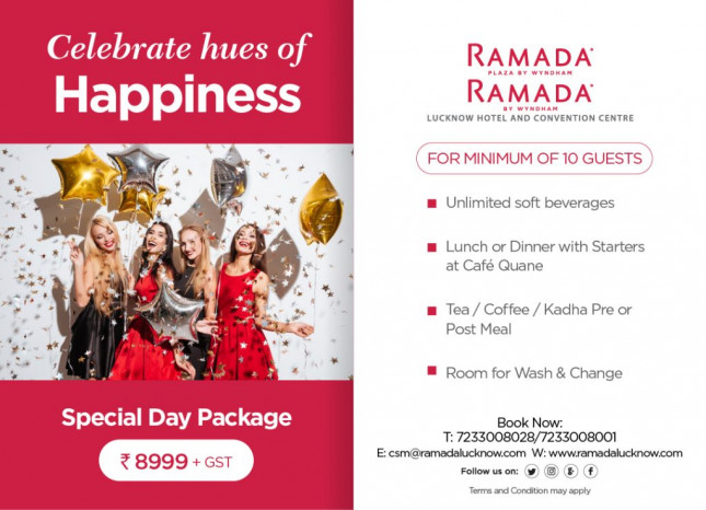 Special Day Package Offer in Lucknow | For Rs 8,999 for a minimum of 10 guests