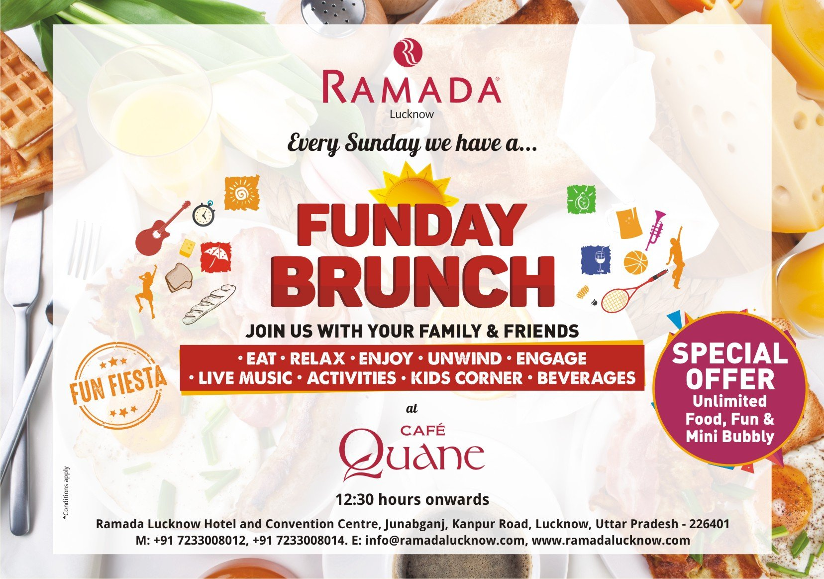 Ramada Lucknow Sunday Brunch Funday Brunch