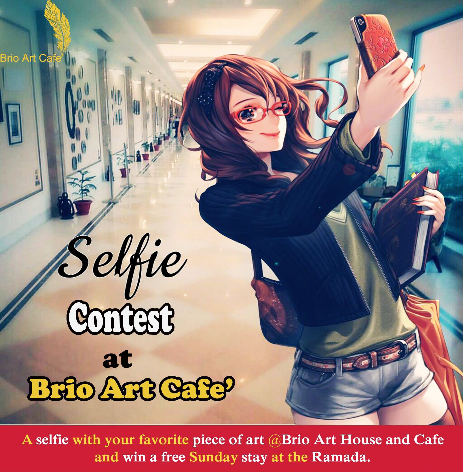 Take a Selfie at Brio Art Cafe Win a Day's Stay at Ramada Lucknow