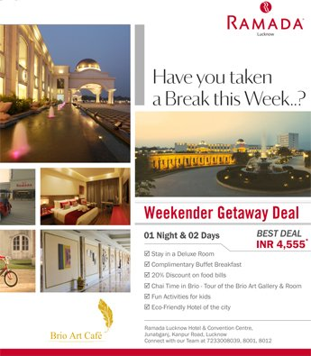Room offers in lucknow dining offers deals at ramada for Getaway deals near me
