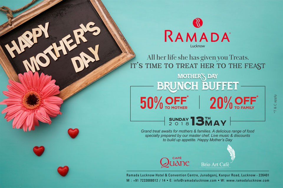 Mothers-Day-Brunch-Buffet-at-Ramada-Lucknow