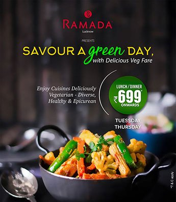 Best-Vegetarian-Buffet-Lucknow-in-Ramada-Lucknow