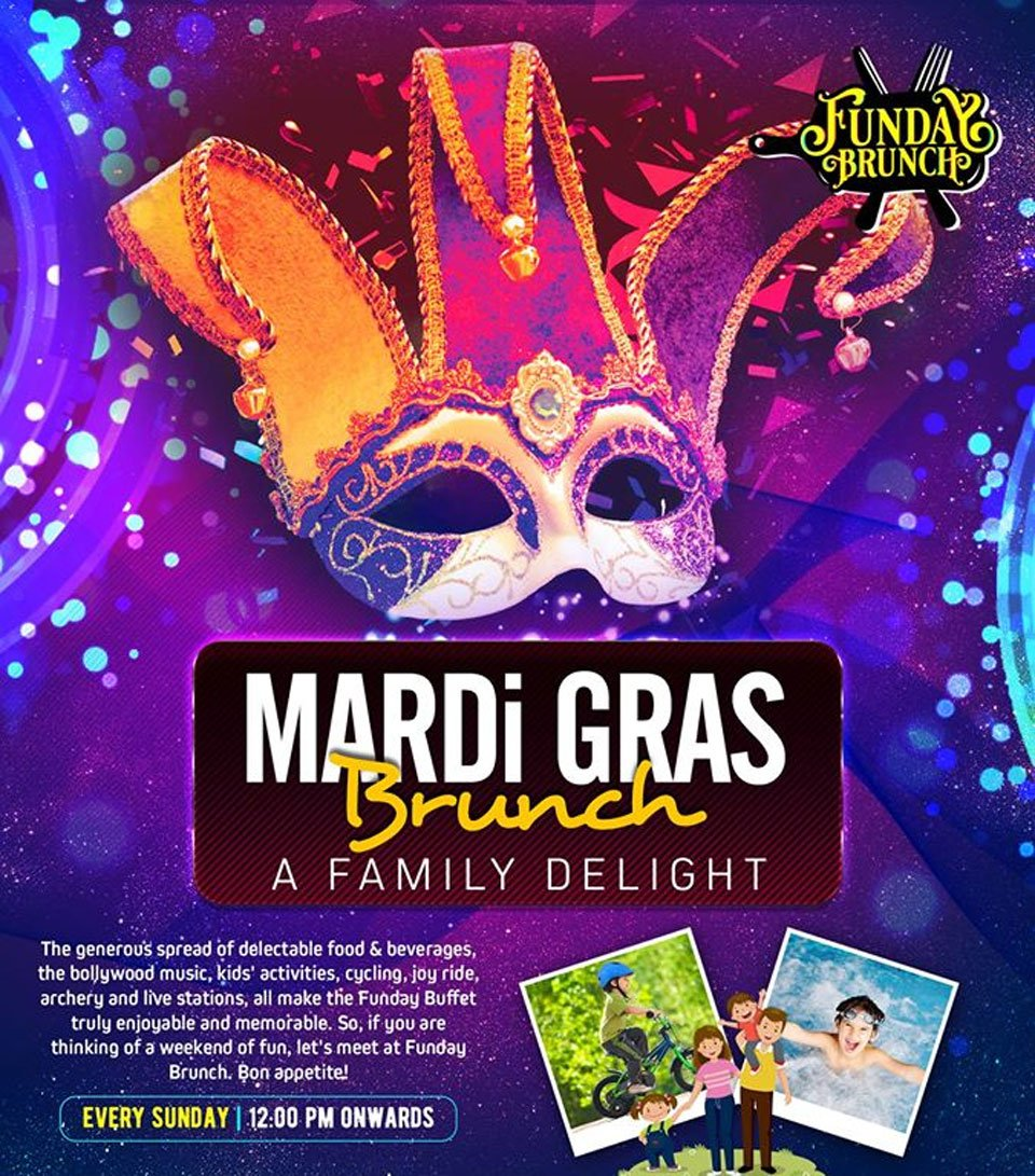 Sunday-Brunch-in-Lucknw-Funday-Brunch-Mardi-Gras-Theme-2019