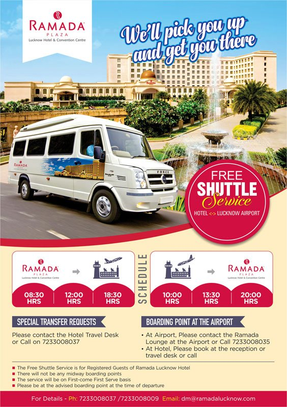 Free-Lucknow-Airport-Shuttle-Service-Ramada-Lucknow-Hotel