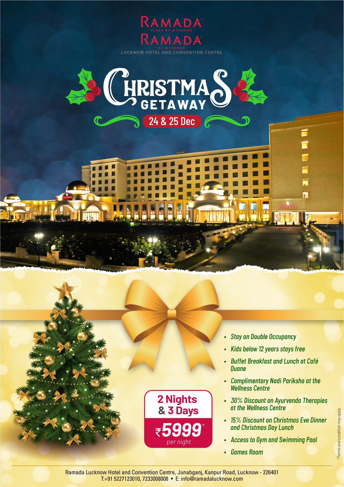 Christmas Package 2019 The Best X'mas Hotel Room Offer on Lucknow