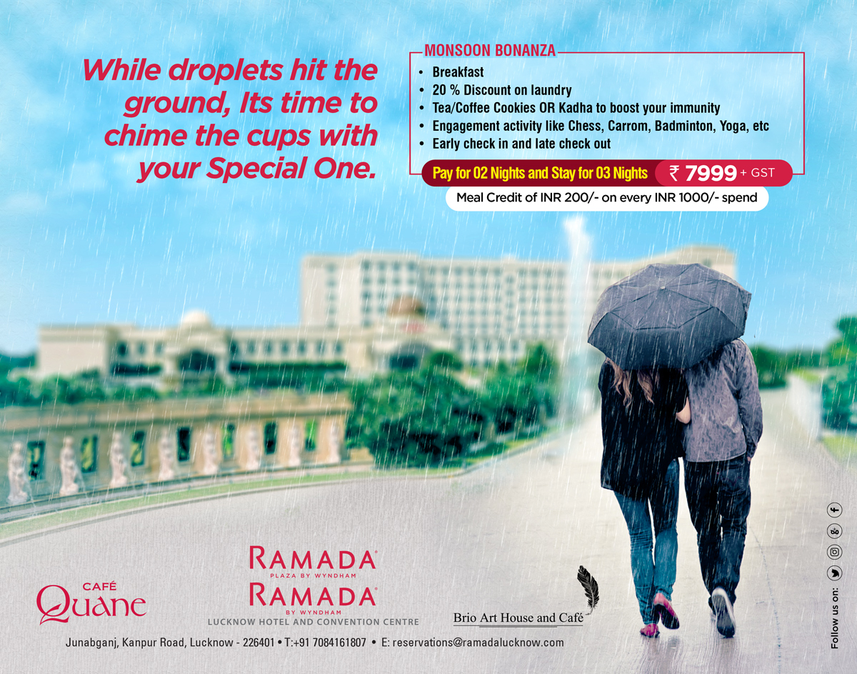 Pay for 2 Nights Stay for 3 with this Monsoon Room Package in Lucknow 2020
