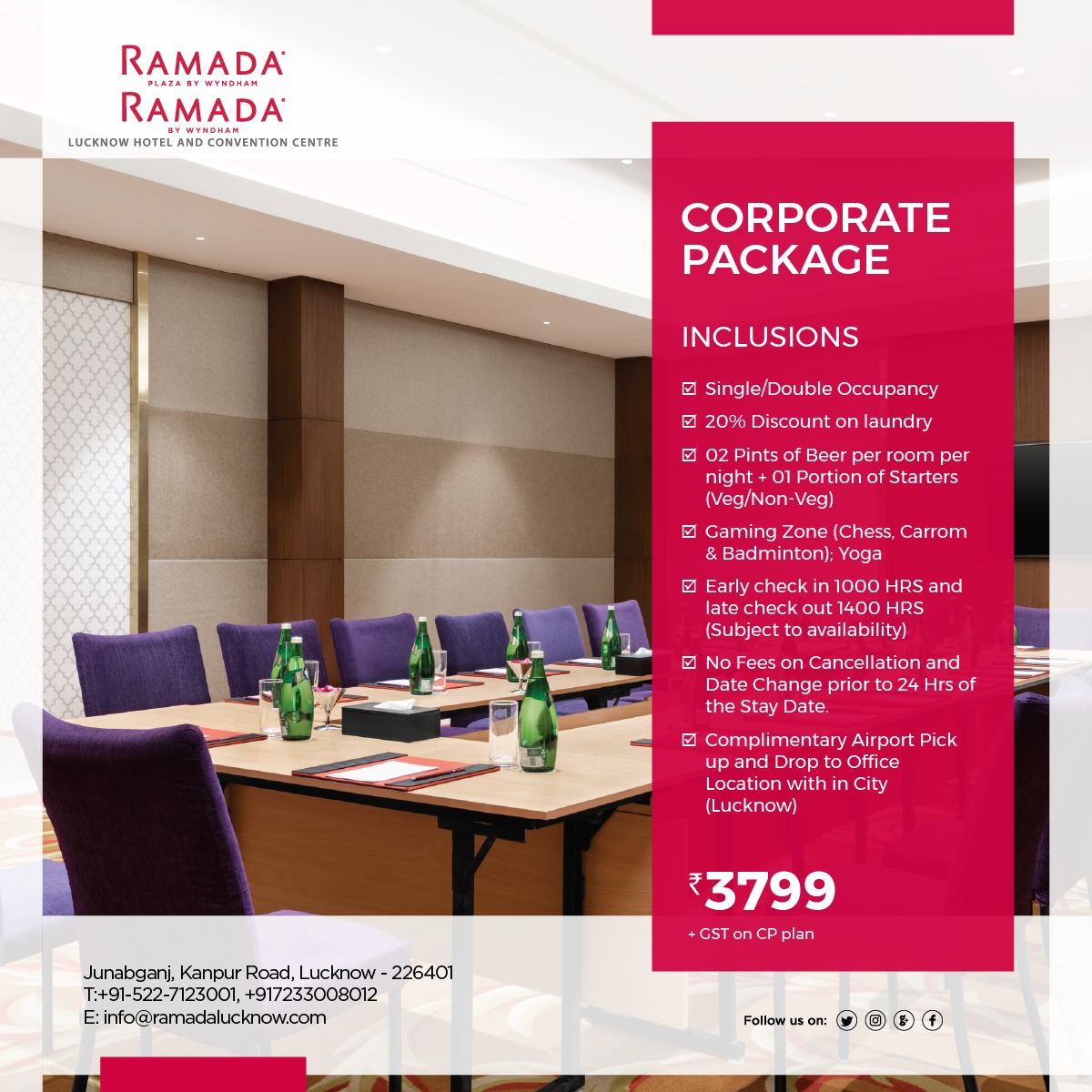 Corporate Stay Offer Package Lucknow