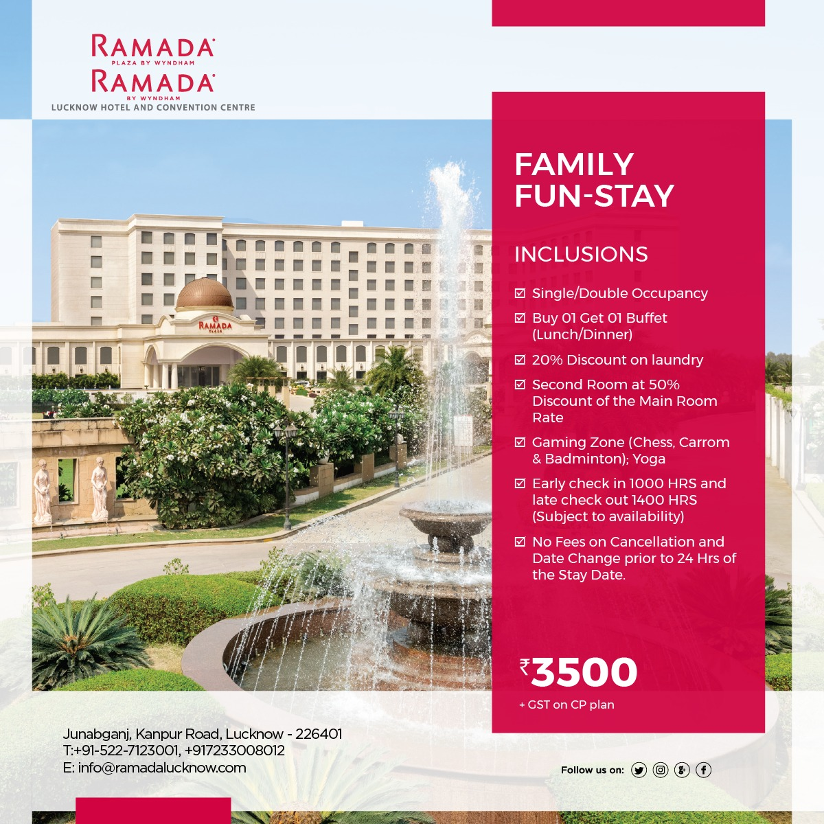 Family Fun Stay Hotel Package Lucknow