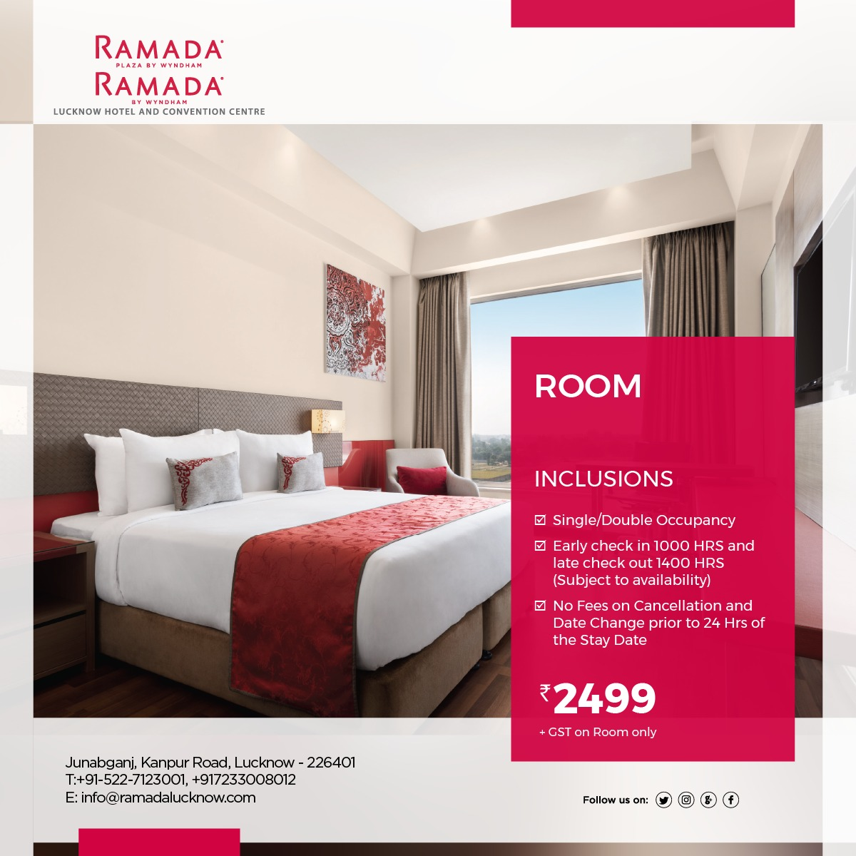 Festive Hotel Room Stay Package Lucknow