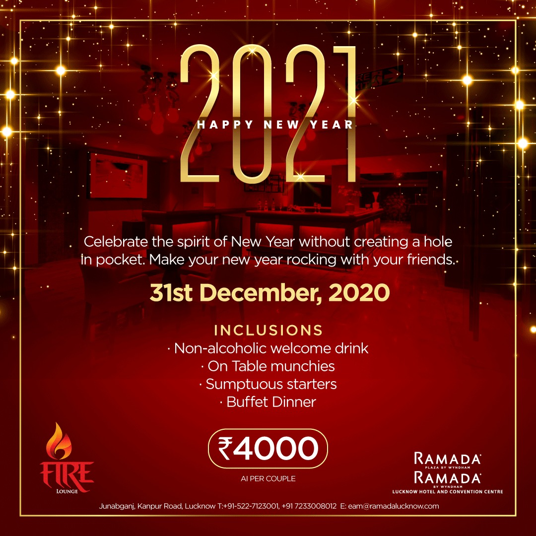 NYE 2021 Party Lucknow Fire Lounge